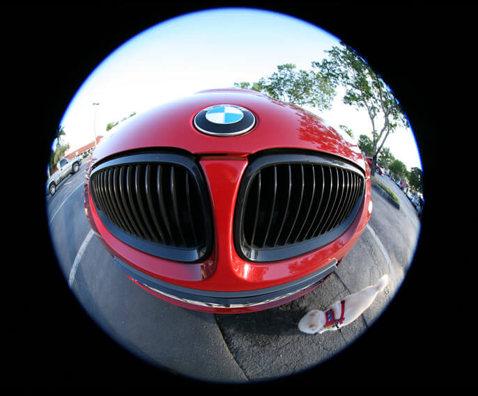 Example photo of a fisheye lens image